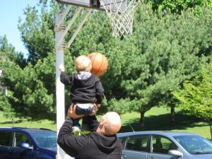basketball with Daddy