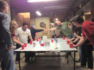 What? Did you really think cancer would stop our annual flip cup game? Pa-lease.