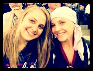 With Michelle at the Indians game!