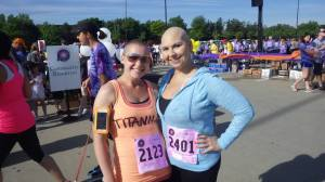 pic of my girl Tam and I before Race for the Place!