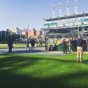 Batting practice-Progressive Field